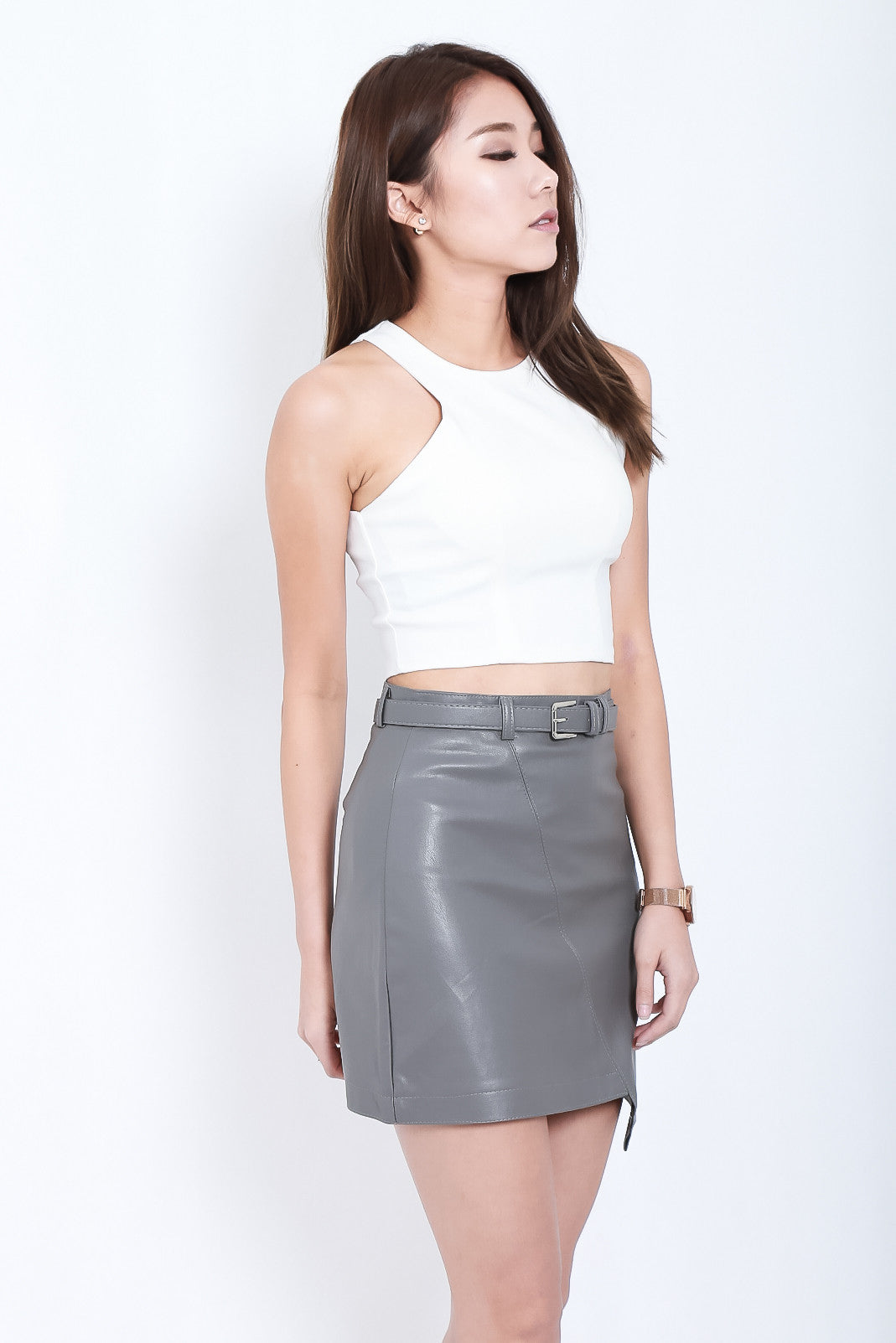 (RESTOCKED) THE ESSENTIAL CROP TOP IN WHITE - TOPAZETTE