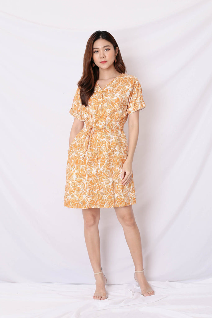 (PREMIUM) RILEY KIMONO BUTTON DOWN DRESS IN SUNSHINE