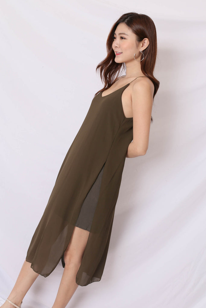 GEN BASIC DRESS IN OLIVE