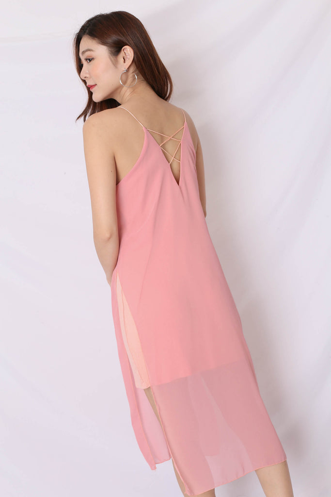 GEN BASIC DRESS IN PINK