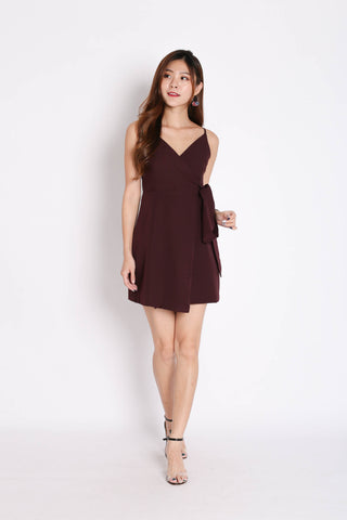 *TPZ* (PREMIUM) HUDSON WRAP DRESS IN PLUM