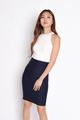 CLASSIC BODYCON SKIRT IN NAVY