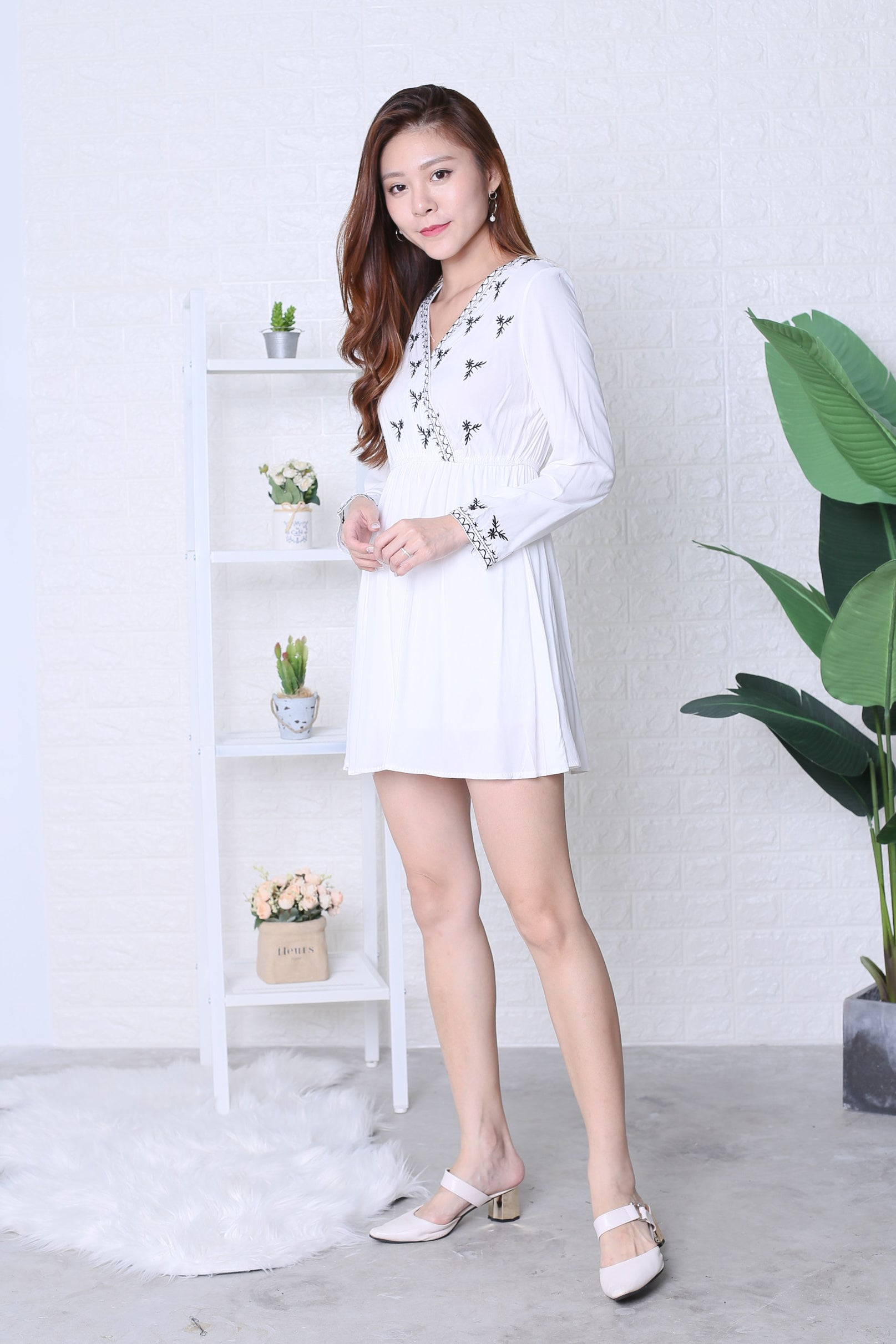 LENNON BOHO DRESS IN WHITE