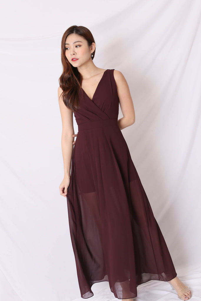 *TPZ* (PREMIUM) XYLA MAXI DRESS IN PLUM