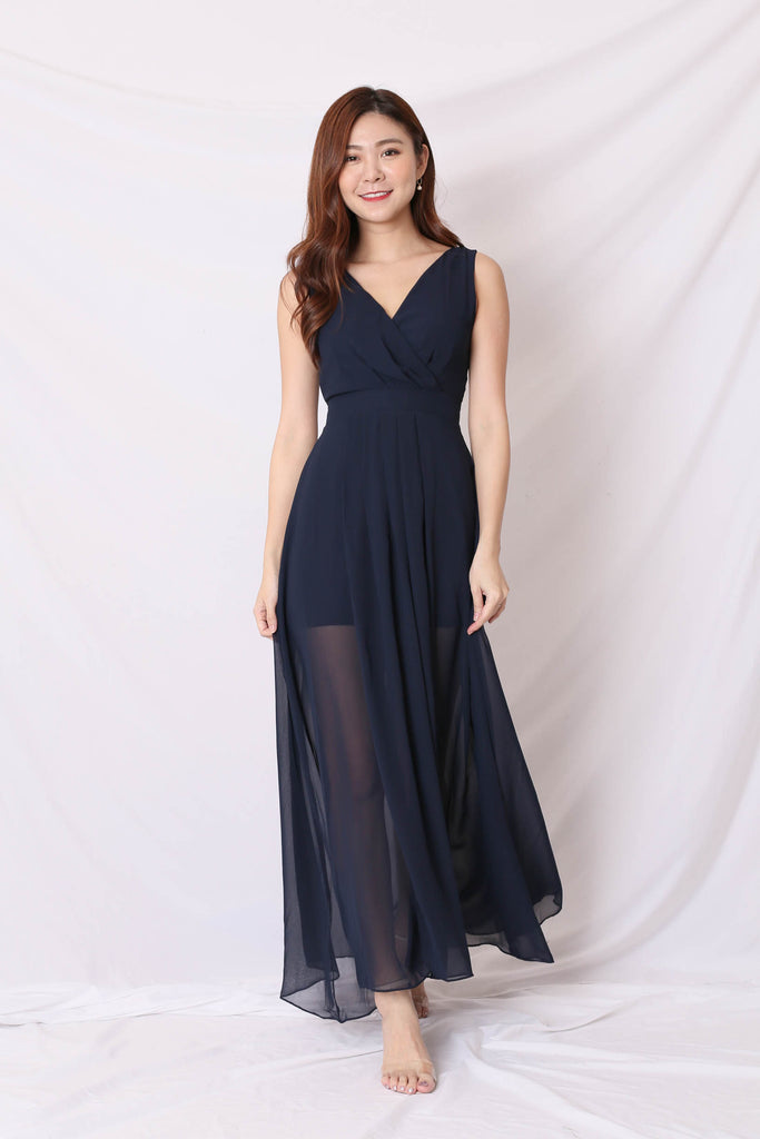 *TPZ* (PREMIUM) XYLA MAXI DRESS IN NAVY