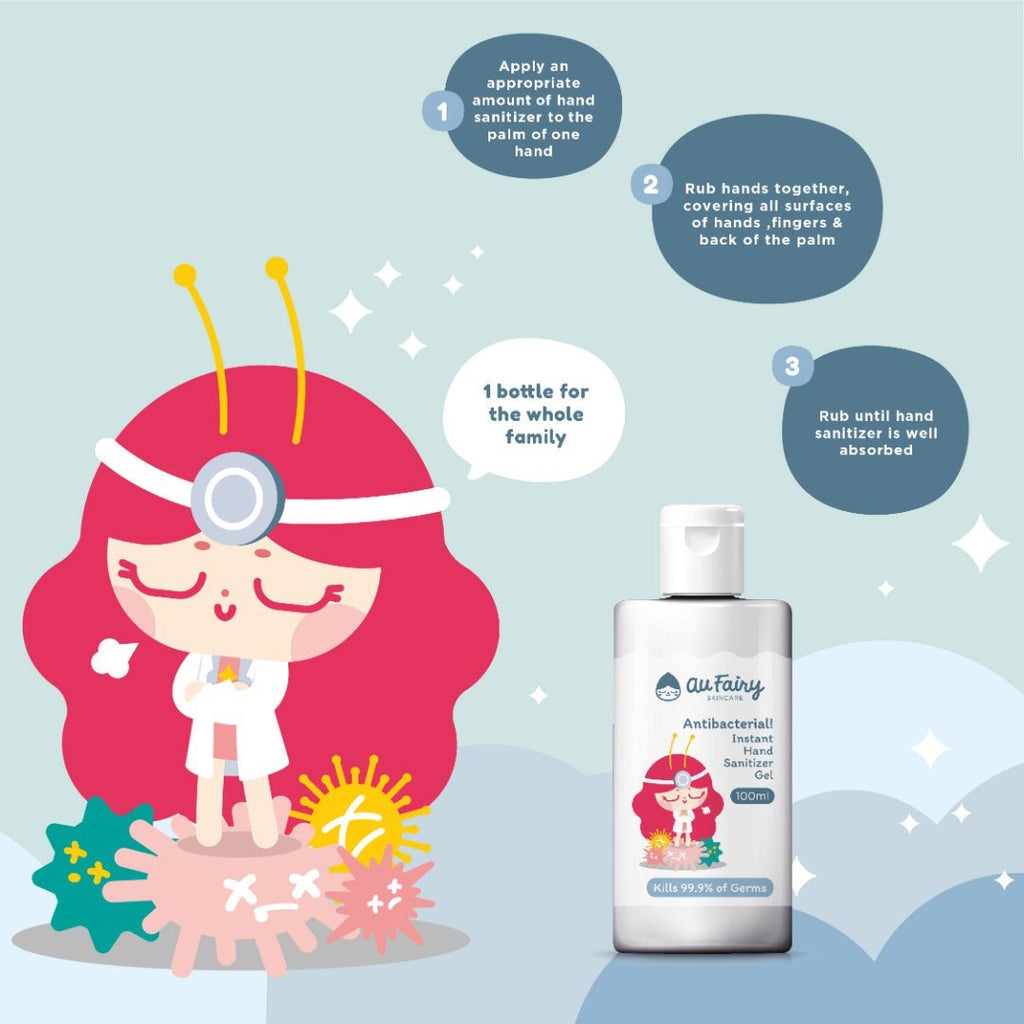 *READY STOCK* AU FAIRY ANTI BACTERIAL INSTANT HAND SANITIZER GEL (100ML) - TOPAZETTE