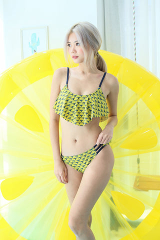 COAST TO COAST FLUTTER BIKINI SET (FRUITY BANANAS) - TOPAZETTE