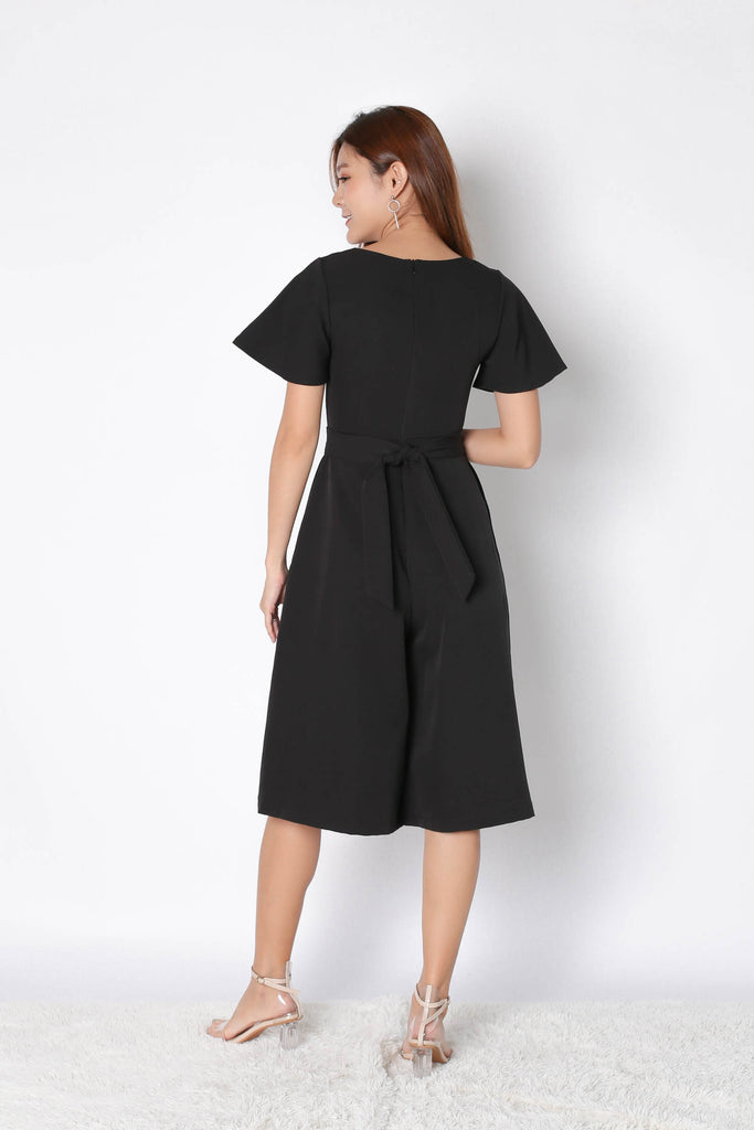 *TPZ* (PREMIUM) FABIA SWEETHEART CULOTTES JUMPSUIT IN BLACK
