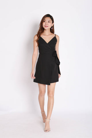 *TPZ* (PREMIUM) HUDSON WRAP DRESS IN BLACK