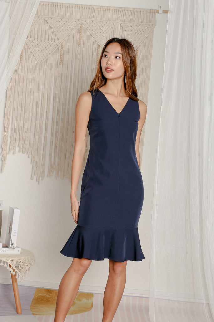 *TPZ* JOSETTE MERMAID DRESS IN NAVY
