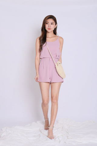 SEGIO 2 PC TOP AND SHORTS SET IN DUSTY PINK