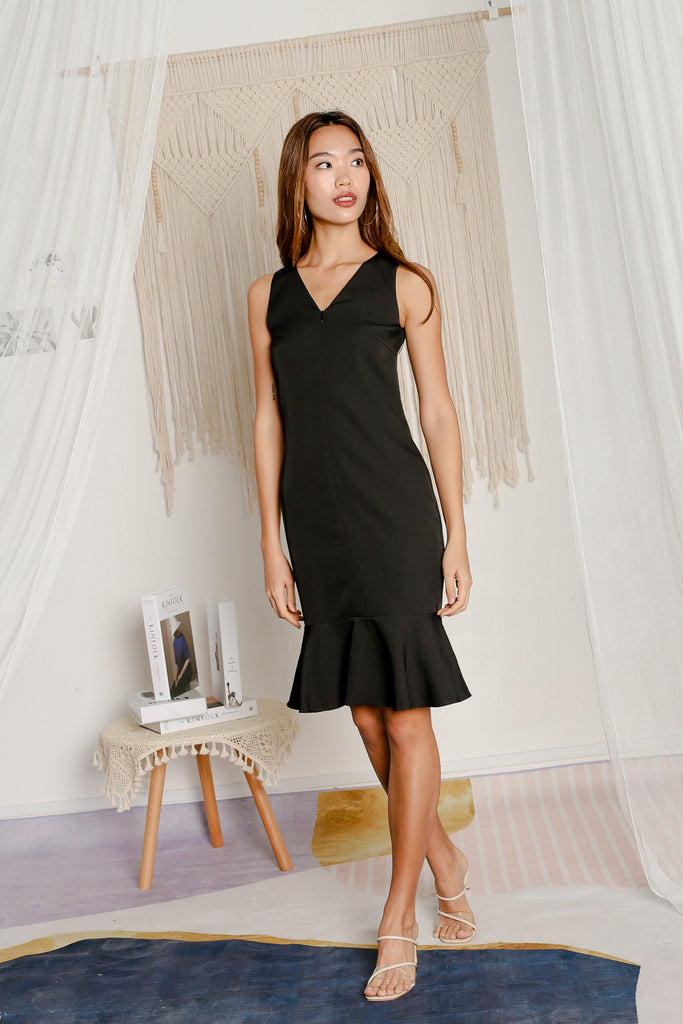 *TPZ* JOSETTE MERMAID DRESS IN BLACK