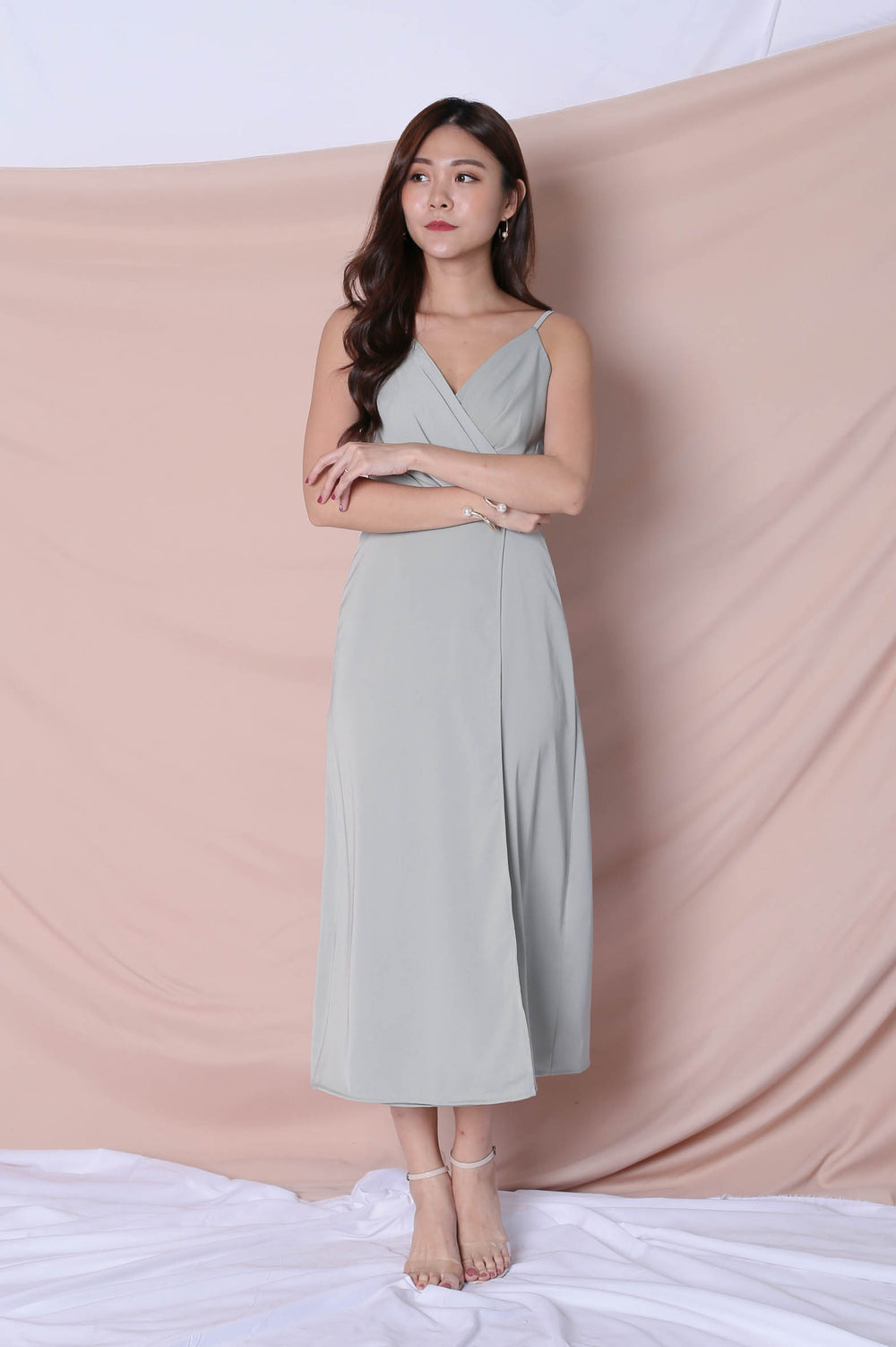 *TPZ* (PREMIUM) SHAYNA MAXI IN SAGE GREEN