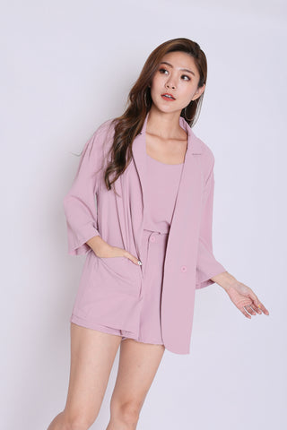 SEGIO OVERSIZED BLAZER IN DUSTY PINK
