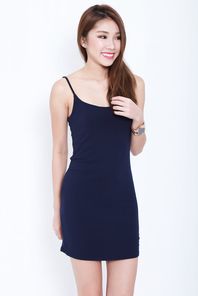 *BACKORDER* WYNN LACED SPAG DRESS IN NAVY - TOPAZETTE