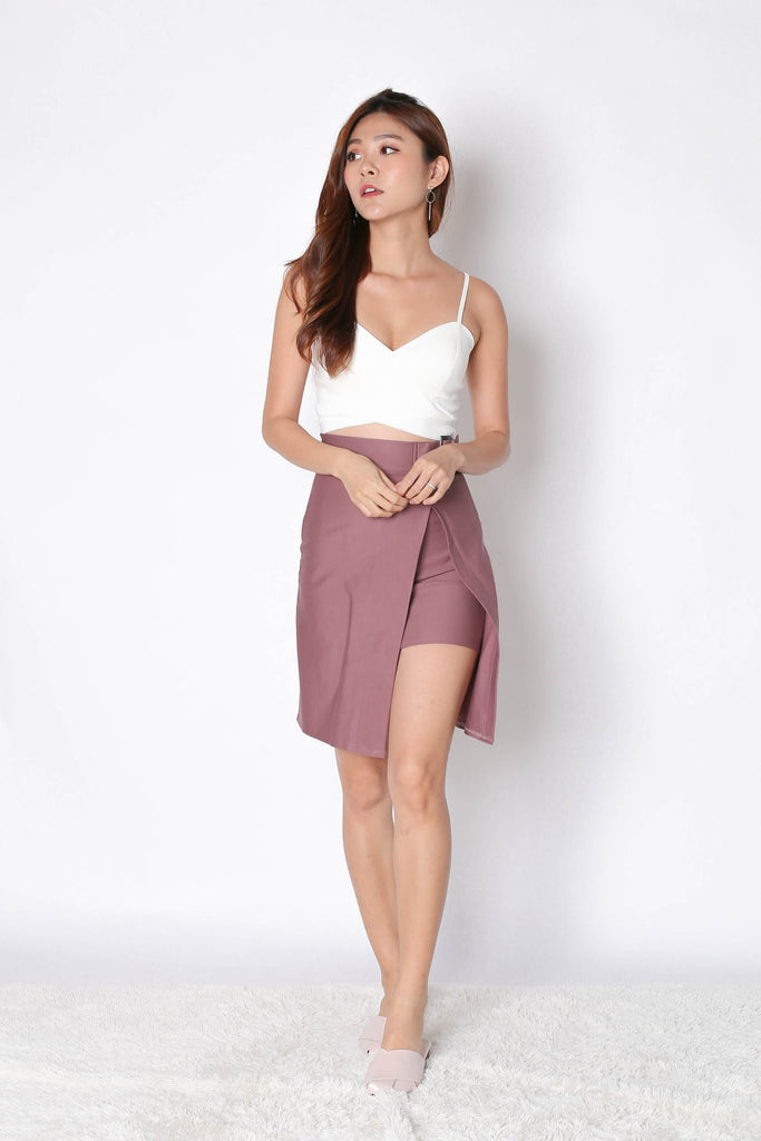 RYNE BODYCON SKIRT IN MAUVE