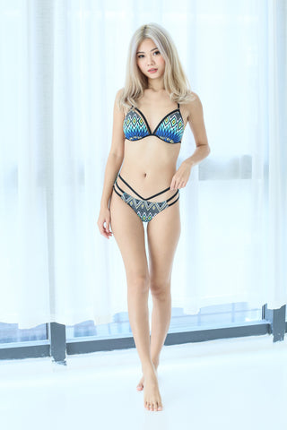 BOARDWALK STRAPPY BIKINI SET (BLUE HORIZON)