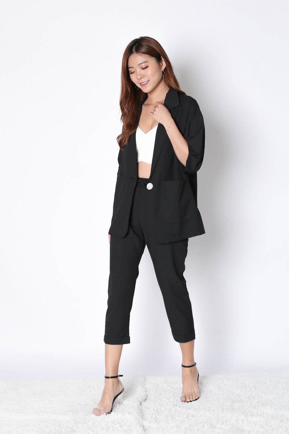AXEL 2 PC BLAZER AND PANTS SET IN BLACK