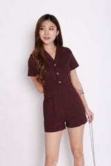 (RESTOCKED) FRANS BUTTON COTTON DRESS IN LIGHT GREY - TOPAZETTE