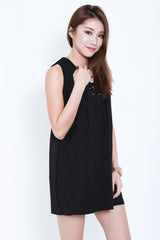(RESTOCKED) ITS A TIE DRESS IN BLACK - TOPAZETTE