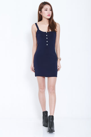 8cf7e08272fa  RESTOCKED  FRANS BUTTON COTTON DRESS IN NAVY