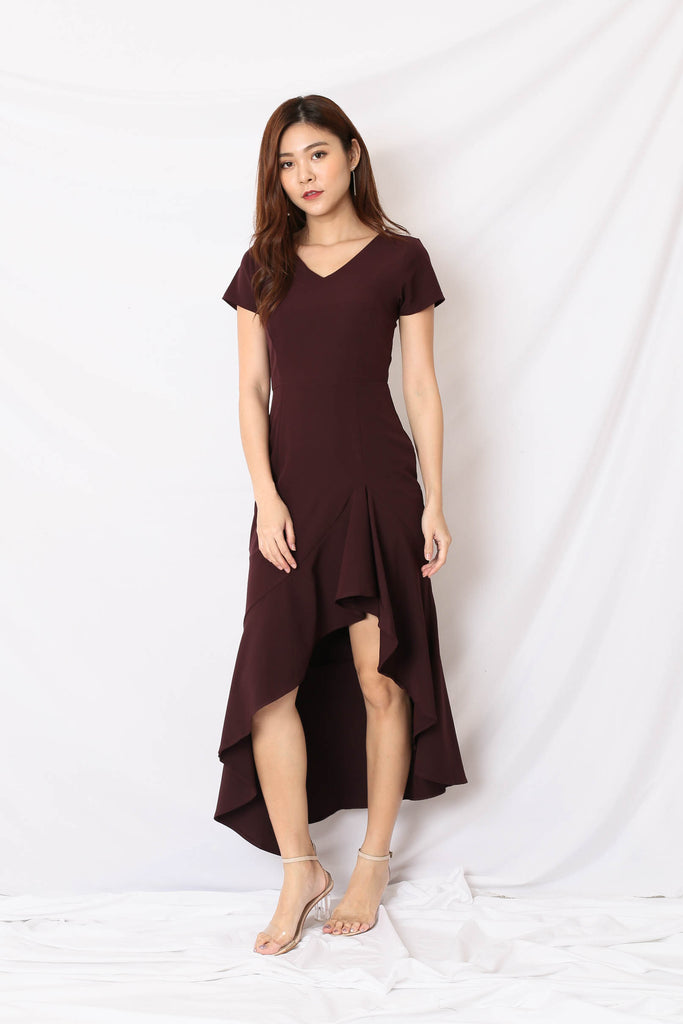 *TPZ* (PREMIUM) SHAYLI DRESS IN PLUM