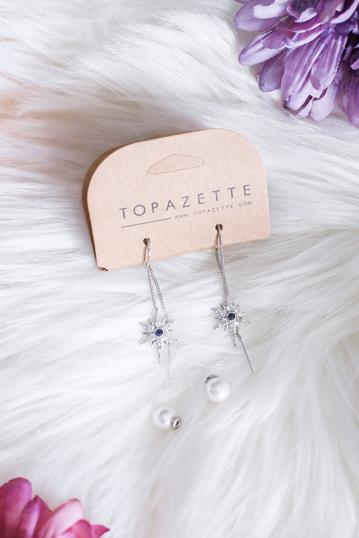 CREST LOOP THROUGH PEARL EARRINGS