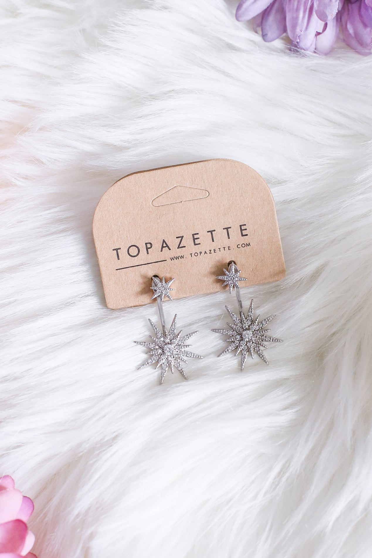 CRYSTAL FLAKE EARRINGS