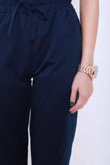 (RESTOCKED) JOGGER PANTS IN NAVY - TOPAZETTE