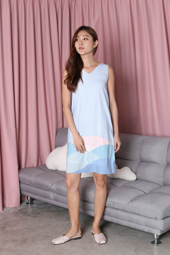 *TPZ* (PREMIUM) HORIZON 2 WAY DRESS IN BLUE - TOPAZETTE