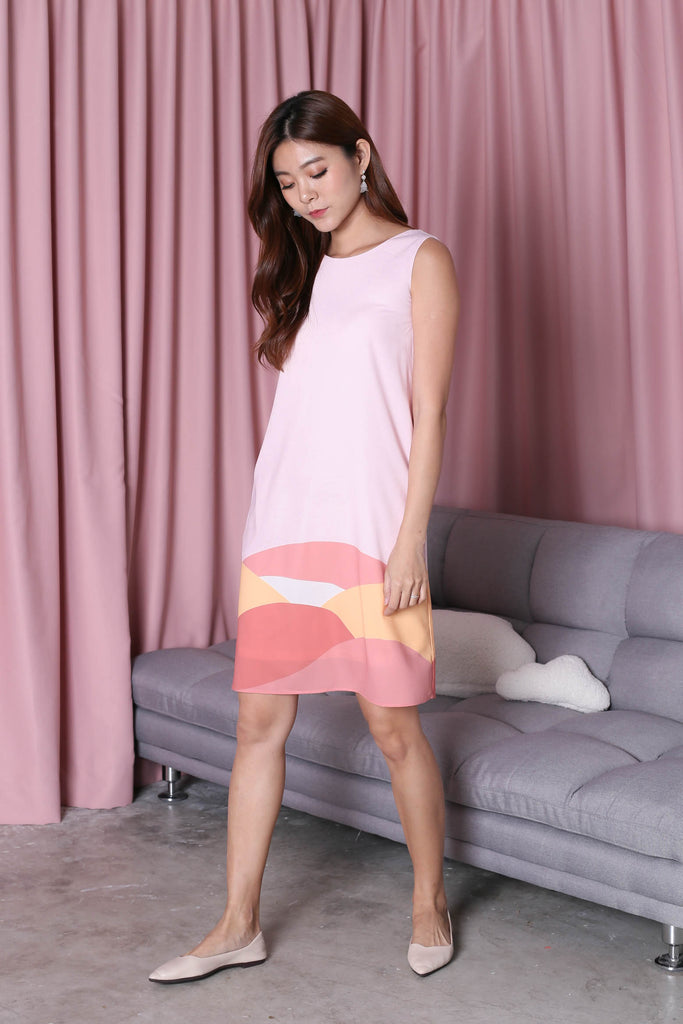 *TPZ* (PREMIUM) HORIZON 2 WAY DRESS IN PINK - TOPAZETTE