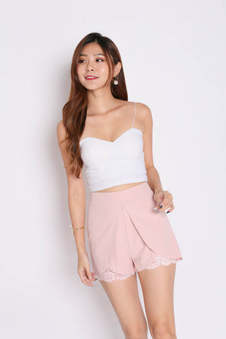 *TPZ* (PREMIUM) AYLA LACE SHORTS IN DUSTY PINK