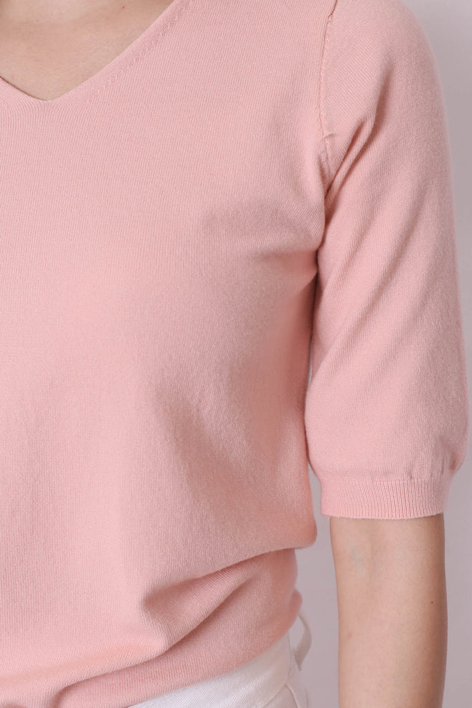 BRANX BASIC KNIT TOP IN BABY PINK