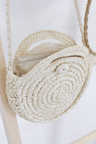 CLASSIC ROUND RATTAN SLING BAG (SMALL)