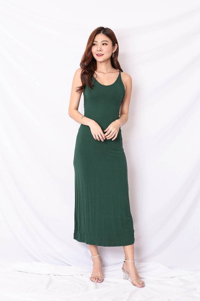 ELIANNA MAXI DRESS IN FOREST