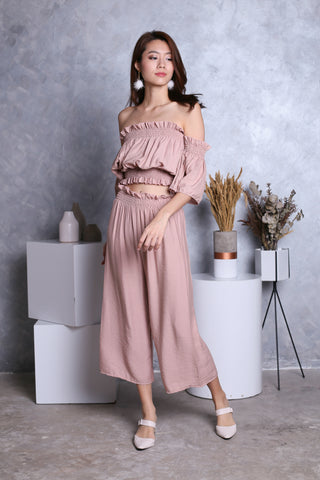 FLAUNCE 2 PC SET IN DUSTY PINK