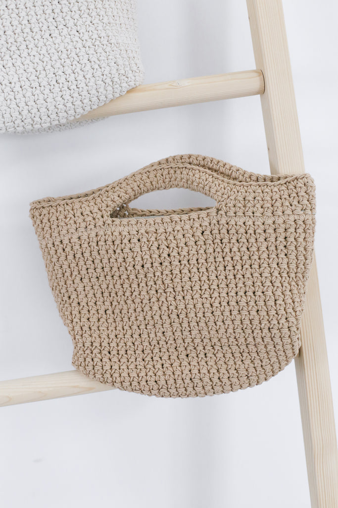 *BACKORDER* KNIT SMALL TOTE BAG - TOPAZETTE