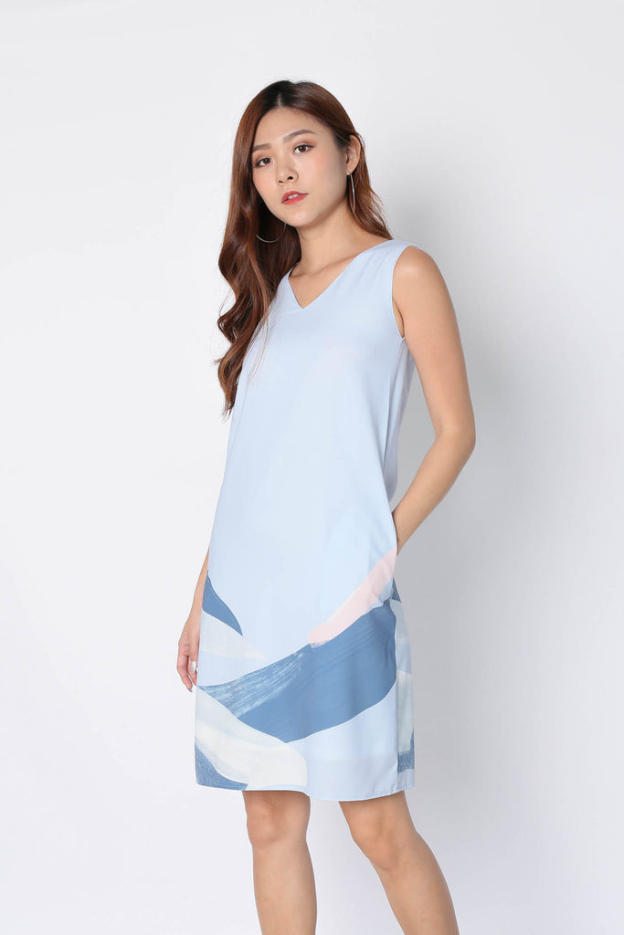 *TPZ* (PREMIUM) YOLETTE 2 WAY DRESS IN BLUE