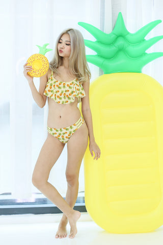 COAST TO COAST FLUTTER BIKINI SET (FRUITY PINEAPPLE) - TOPAZETTE