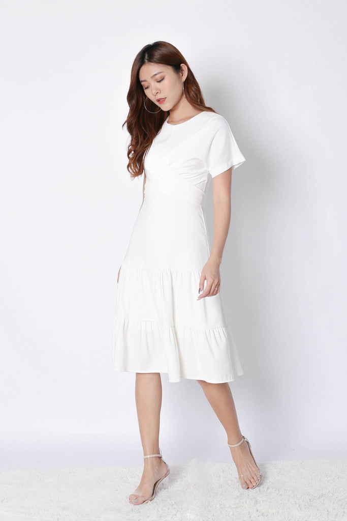 *TPZ* (PREMIUM) SHYANN DRESS IN WHITE - TOPAZETTE