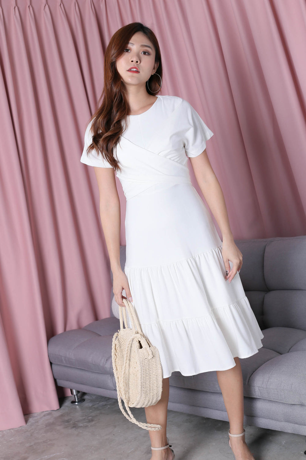 *TPZ* (PREMIUM) SHYANN DRESS IN WHITE