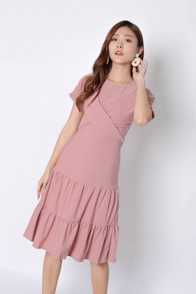 *TPZ* (PREMIUM) SHYANN DRESS IN POWDER PINK