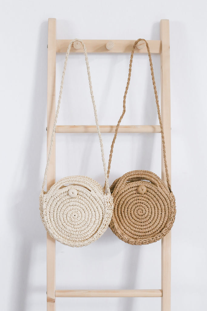 CLASSIC ROUND RATTAN SLING BAG (SMALL) - TOPAZETTE