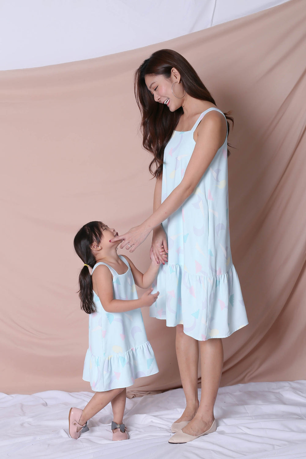 (PREMIUM) PASTEL UNICORN RUFFLE DRESS IN MINT PASTEL