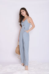 (PREMIUM) ZYAN JUMPSUIT IN DUSTY BLUE