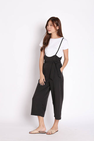 DENIZ DUNGAREE SET IN BLACK