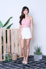BERILLE OVERLAP FRAY SKORTS IN WHITE
