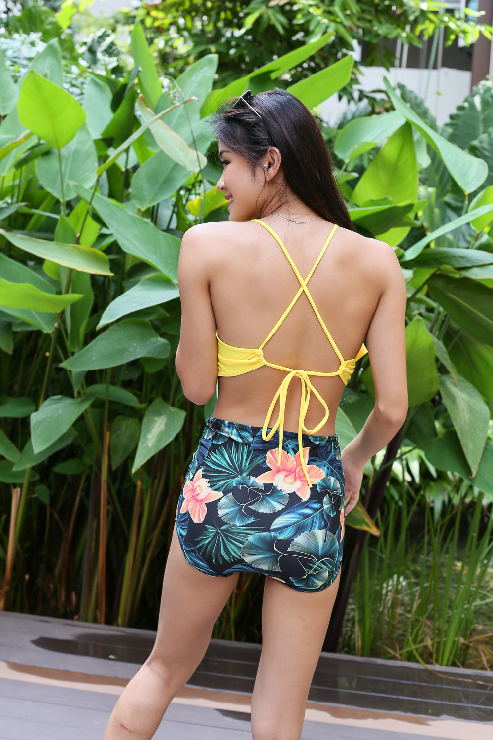 ISLAND LIFE HIGH WAISTED BIKINI SET (SUNSHINE FLORALS)