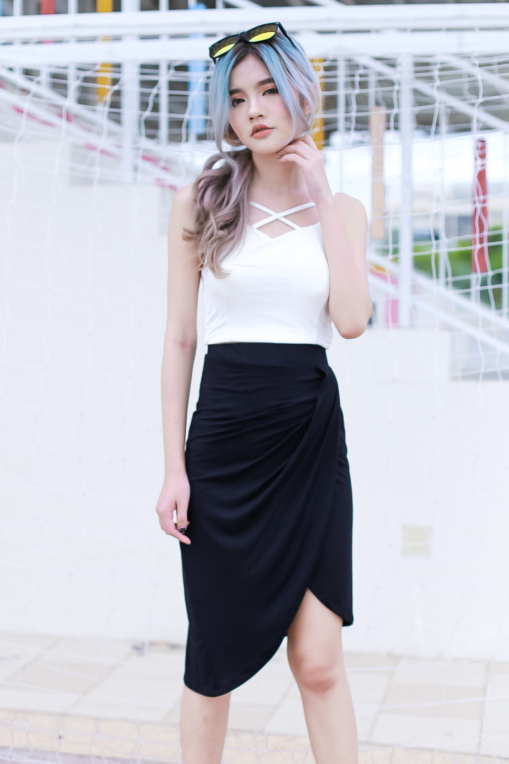 (RESTOCKED) EDNA TOP IN WHITE - TOPAZETTE
