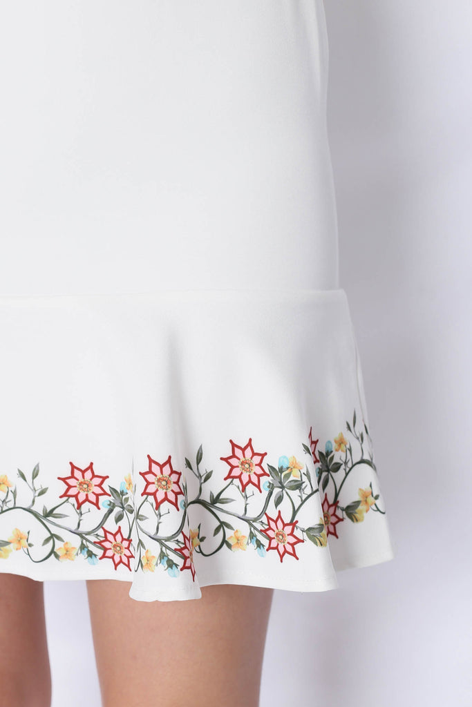 *TPZ* (PREMIUM) DING EMBROIDERY REMOVABLE COLLAR DRESS IN WHITE - TOPAZETTE